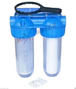 """2 stage 10"""" RV trailer Water Filter System"""