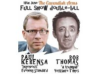 FREE double-bill of NEW solo comedy shows - Paul Kerensa & Rob Thomas