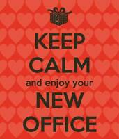Hey you! Come see your new office space!!!
