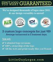 3 Custom Logos with UNLIMITED revisions - $89