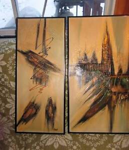 Several R. PARRET SIGNED ABSTRACT EXPRESSIONISM ART OIL PAINTING West Island Greater Montréal image 9