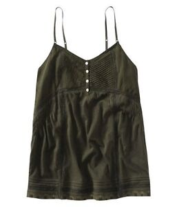 AEROPOSTALE-NWT-womens-jrs-clothes-OLIVE-GREEN-EMBELLISHED-CAMI-TOP-Shirt-XS