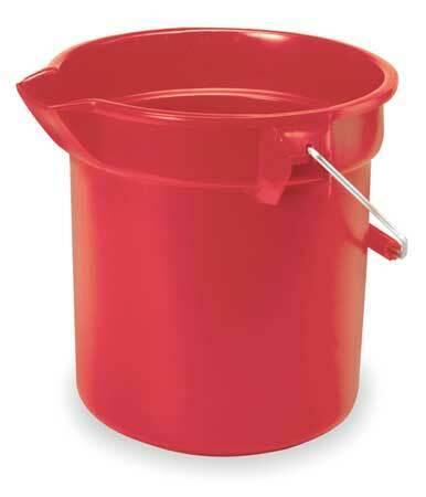 Rubbermaid Fg296300red Brute Bucket,2-1/2 Gal.,Red