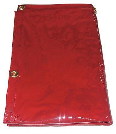 WESTWARD 22RN61 Welding Curtain,8 ft. W,6 ft.,Red