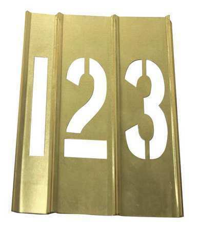 Zoro Select 20Y516 Brass Stencils,15 Piece Number,1 1/2 In