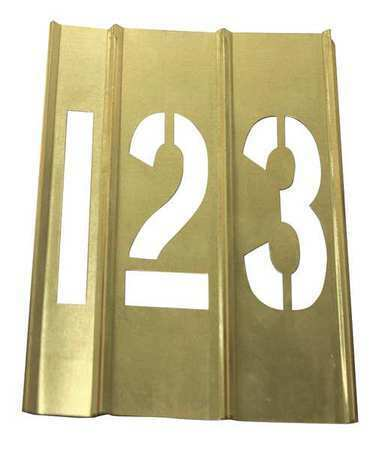 Zoro Select 20Y513 Stencil Kit, Brass,15 Pcs