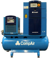 New 15 hp Compair Rotary Screw Air Compressor Air Station