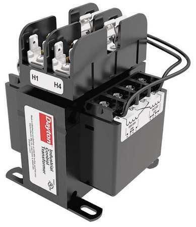 Dayton 31Eh02 Control Transformer,200Va,4.11 In. H