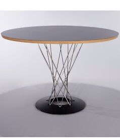 Noguchi Cyclone Dining Table with Black Melamine Top, Ex Show House Display, Bargain £195