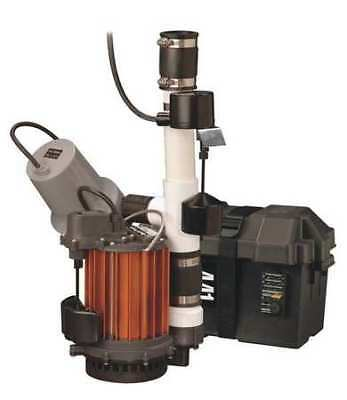 LIBERTY PUMPS PC457-441 Sump/Battery Back-Up System,1/2 HP