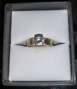 Diamond Engagement Ring 14k Gold at Great Pacific Pawnbrokers