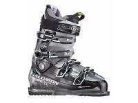 Mens Ski Boots/Skis Salomon Impact 100 CS Boots + k2 Rictor All Terrain Rocker Skis + Ski Bag Black