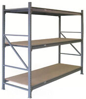 USED Q.A. LIGHT DUTY RACKING. QUICK ASSEMBLY HEAVY-DUTY SHELVING