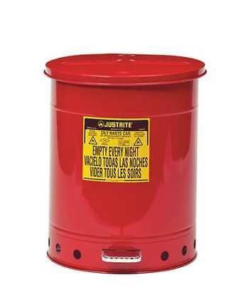 Justrite 09500 Oily Waste Can14 Gal.steelred