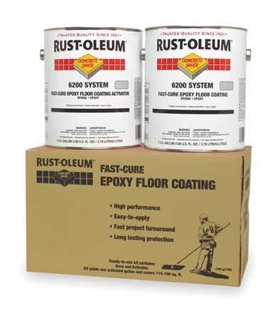 RUST-OLEUM 251763 6200 Floor Coating Kit 1 gal., Silver Gray