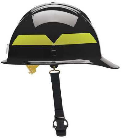 Bullard Fcbkp Fire Helmet,Black,Thermoplastic