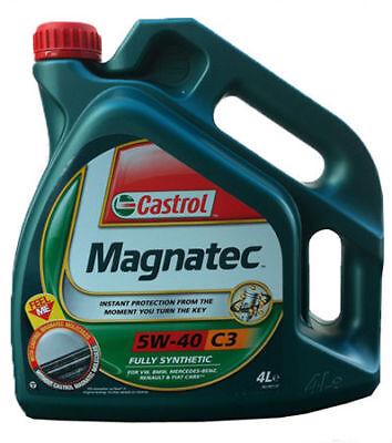 Castrol Magnatec 5w40 C3 completamente sintético coche de aceite del motor de...
