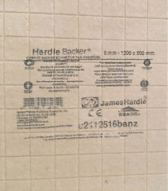 Hardie Backer board 6mm X 1200 x 800mm
