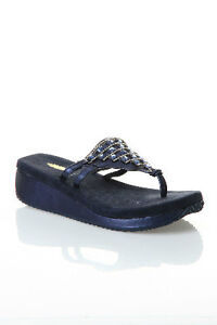 "Brand New Volatile ""Pyramid"" Thong Sandals in Navy size 7"