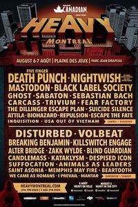 HEAVY MTL TIX/AUGUST 6&7/BELOW COST/SAVE $59.00 for the Weekend