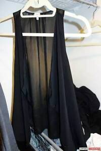 "Aritzia Wilfred ""Ninon"" Silk Blouse Black XS but fits up to M -"