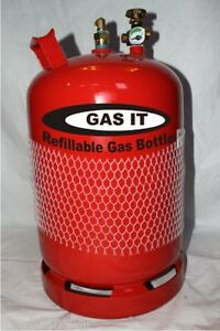 GAS IT 11kg as gaslow   motohome Refillable LPG Gas Bottle Cylinder