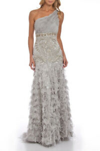 Sue Wong Platinum designer dress/gown