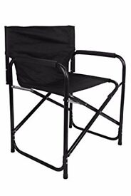 BRAND NEW Black Folding Director Chair