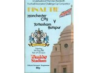 Manchester City v Tottenham Hotspur 1981 FA Cup Final Programme, used for sale  Kilburn, London