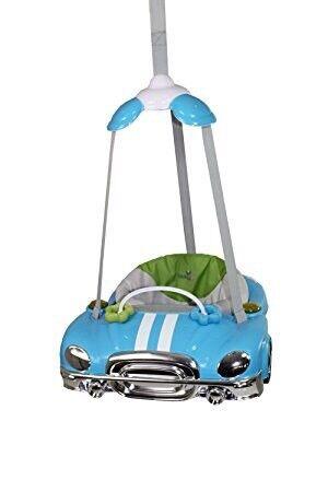 Babylo blue car door baby bouncer
