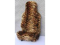 Tiger fur car seat covers for front seats set of 2