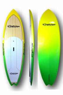 "Stand up paddle board 8'6""x29.5"" performance SUP Alleydesigns"