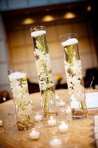 set of 3 cylinder vases for $19.99/set wedding centrepiece Calgary Alberta image 10