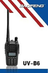 BAOFENG UV-B6 2WAY DUAL BAND HANDHELD RADIO