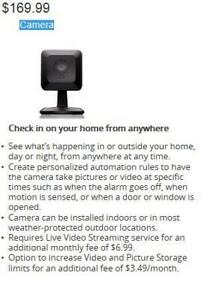 Rogers Smart Home Monitoring System Security Cameras