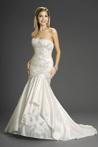 Never worn wedding gown with accessories