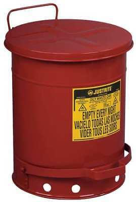 Justrite 09300 Oily Waste Can10 Gal.steelred