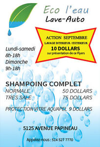 Shampoing complet 50 dollars