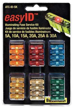 Eaton Bussmann Atc-Id-Sk Blade Fuse Kit,42,Atc,Esy Id Illminating