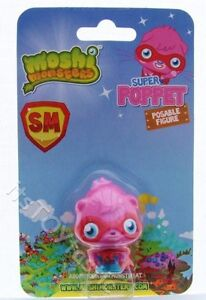 Super Moshi Monsters Pink Poppet Posable Moshling Figure Poseable New