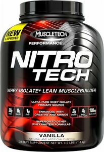 MUSCLETECH NITROTECH 1.8KG // NITRO TECH PRO SERIES WHEY PROTEIN ISOLATE