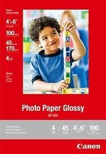Photo Paper Canon Glossy 4x6 inkjet 100 sheets