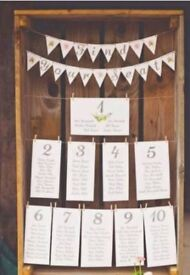 Wedding signs handmade