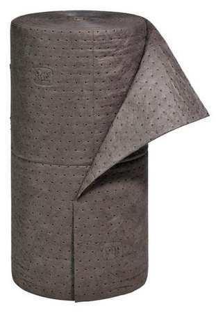 Pig Mat230 Absorbent Roll, Absorbs 40.2 Gal. Universal, ,Gray