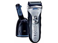 Braun Series 3 390cc Electric Razor with Cleaning & Charging Station for sale