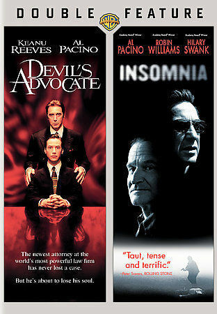 Devil's Advocate/Insomnia - Double Feature (DVD, 2008, Widescreen) Great Shape! 1