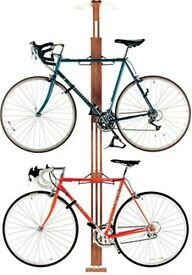 Gear Up OakRak floor-to-ceiling bike rack