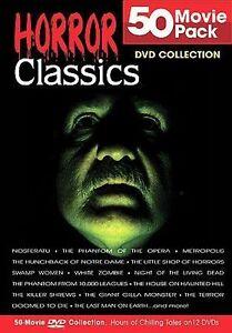 Horror Classics 50 Movie Pack (DVD, 2004...