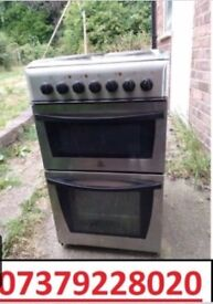 Black and grey indesit electric cooker can drop off