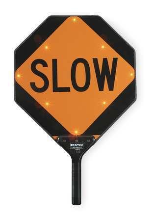Tapco 2180-00322 Blinkerpaddle® Led Sign,Stop/Slow,Red/Orange